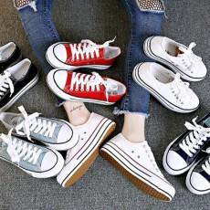 (SH005) 厚底帆布鞋
