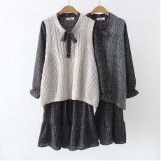 日系(WA7835) 連身裙兩件套