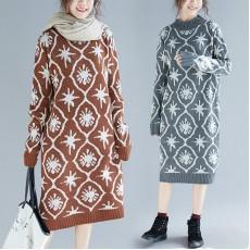 (F4532) 針織連身裙  (大碼款)