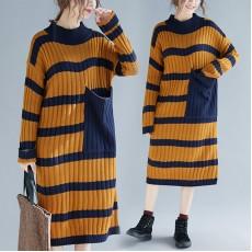(F4535) 針織連身裙 (大碼款)