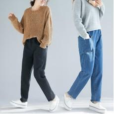 (F4541) 牛仔褲 (大碼款)
