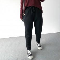 (A1393) 簡約麻棉長褲