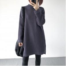 (A1394) 簡約針織連身裙