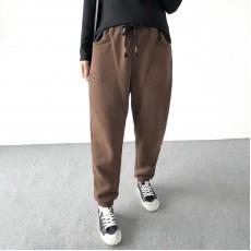 (A1399) 簡約棉質長褲