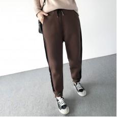 (A1400) 簡約麻棉長褲