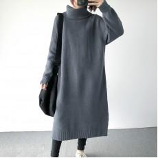 (A1405) 簡約針織連身裙