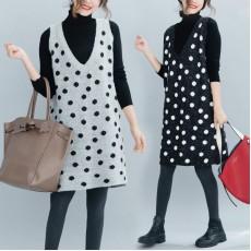 (F4469) 兩件套連身裙 (大碼款)