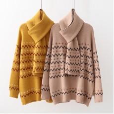 日系(WA7570)  針織頸巾兩件套套裝