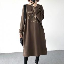(A1252) 簡約棉質連身裙