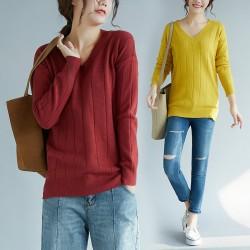 (F4033) 針織上衣 (大碼款)