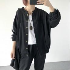 (A1218) 簡約棉質外套