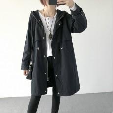 (A1220) 簡約棉質長款外套