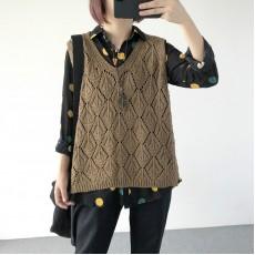 (A1221) 簡約針織背心上衣