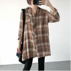 (A1225) 簡約麻棉恤衫