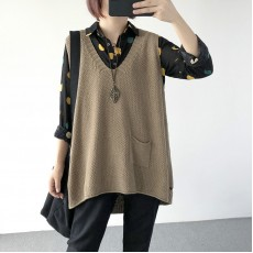 (A1226) 簡約針織背心上衣