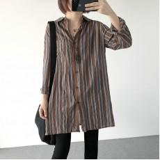 (A1227) 簡約麻棉恤衫
