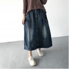 (A1228) 簡約牛仔半身裙