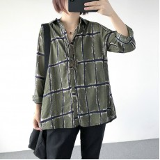 (A1230) 簡約麻棉恤衫