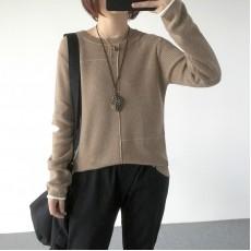 (A1233) 簡約針織上衣