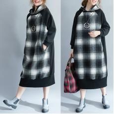 (F3601) 連帽連身裙 (大碼款)