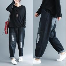 (F3609) 牛仔褲  (大碼款)