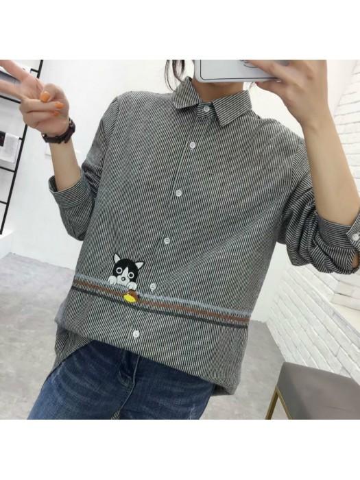 (現貨藍色L碼)(A1194) 簡約麻棉恤衫