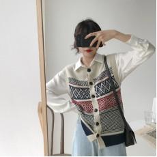 (A1202) 簡約針織背心上衣
