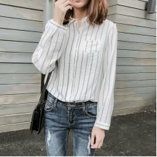 (A1203) 簡約麻棉恤衫