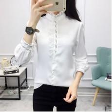 (A1207) 簡約雪紡恤衫