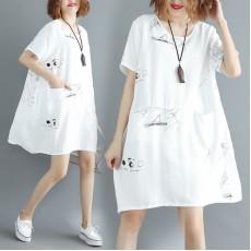 (現貨白色)(F2742) 連身裙 (大碼款)
