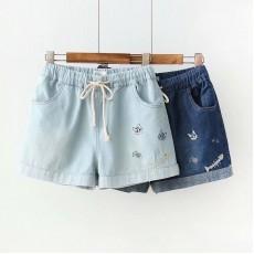 (現貨深藍M碼)日系(WA6427) 牛仔短褲