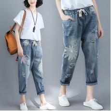 (F2448) 牛仔褲  (大碼款)