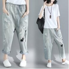 (F2449) 牛仔褲 (大碼款)