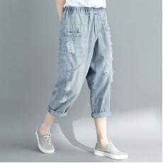 (F2450) 牛仔褲 (大碼款)