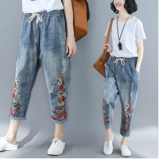 (F2464) 牛仔褲  (大碼款)