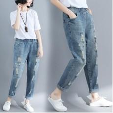(F2465) 牛仔褲 (大碼款)