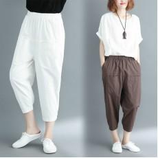 (黑色L碼)(F2430) 長褲  (大碼款)