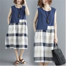 (F2413) 背心連身裙 (大碼款)