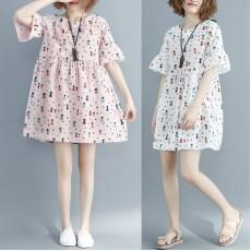 (現貨白色XXL碼) (F2354) 連身裙 (大碼款)