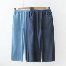 (現貨淺色L碼)日系(WA5997) 牛仔褲