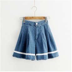 (L碼有現貨)(JP8309) 牛仔短褲