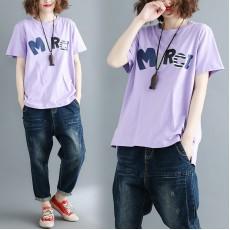 (現貨紫色L碼)(F1973) 上衣 (大碼款)