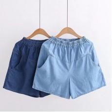 (現貨淺藍M碼)日系(WA5769) 牛仔短褲
