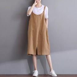 (F1759)  吊帶連身裙 (大碼款)