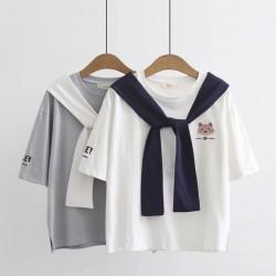 日系(WA5498)   貓  上衣
