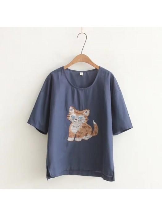 日系(WA5421) 貓  上衣