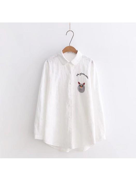 日系(WA5425)  貓  恤衫
