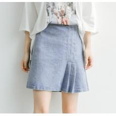 (M碼現貨)台單(29424)牛仔半身裙
