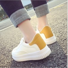 PU運動鞋款厚底鞋平底鞋