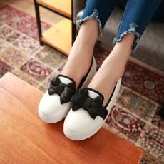 可愛厚底蝴蝶結內增高鞋